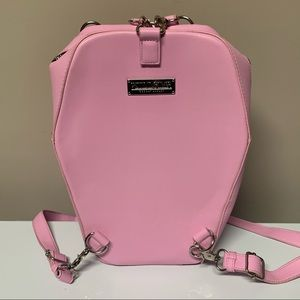 RARE Killstar Pink Coffin Backpack Bag Purse